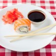 Stock Photo: Sushi on a plate