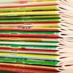 Heap of magazines — Stock Photo
