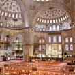 Sultanahmet Blue mosque interior - Stock Photo