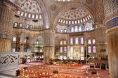 Sultanahmet Blue mosque interior — Stock Photo