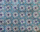 Sultanahmet Blue mosque interior - tiles — Stock Photo