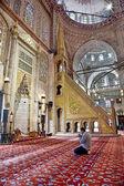 Sultanahmet Blue mosque - interior - pulpit — Stock Photo