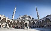 Mezquita de sultanahmet azul - patio interior — Foto de Stock