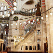 Suleymaniye Mosque in Istanbul Turkey - interior -pulpit — Stock Photo