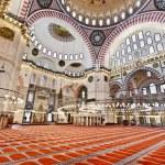 Suleymaniye Mosque in Istanbul Turkey - interior — Stock Photo #18037585