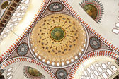 Suleymaniye Mosque in Istanbul Turkey - interior — Stock Photo