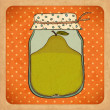 Pear jam. Vintage cardboard. Vector Eps10 - Stock Vector