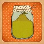 Pear jam. Vintage cardboard. Vector Eps10 — Stock Vector #14670479