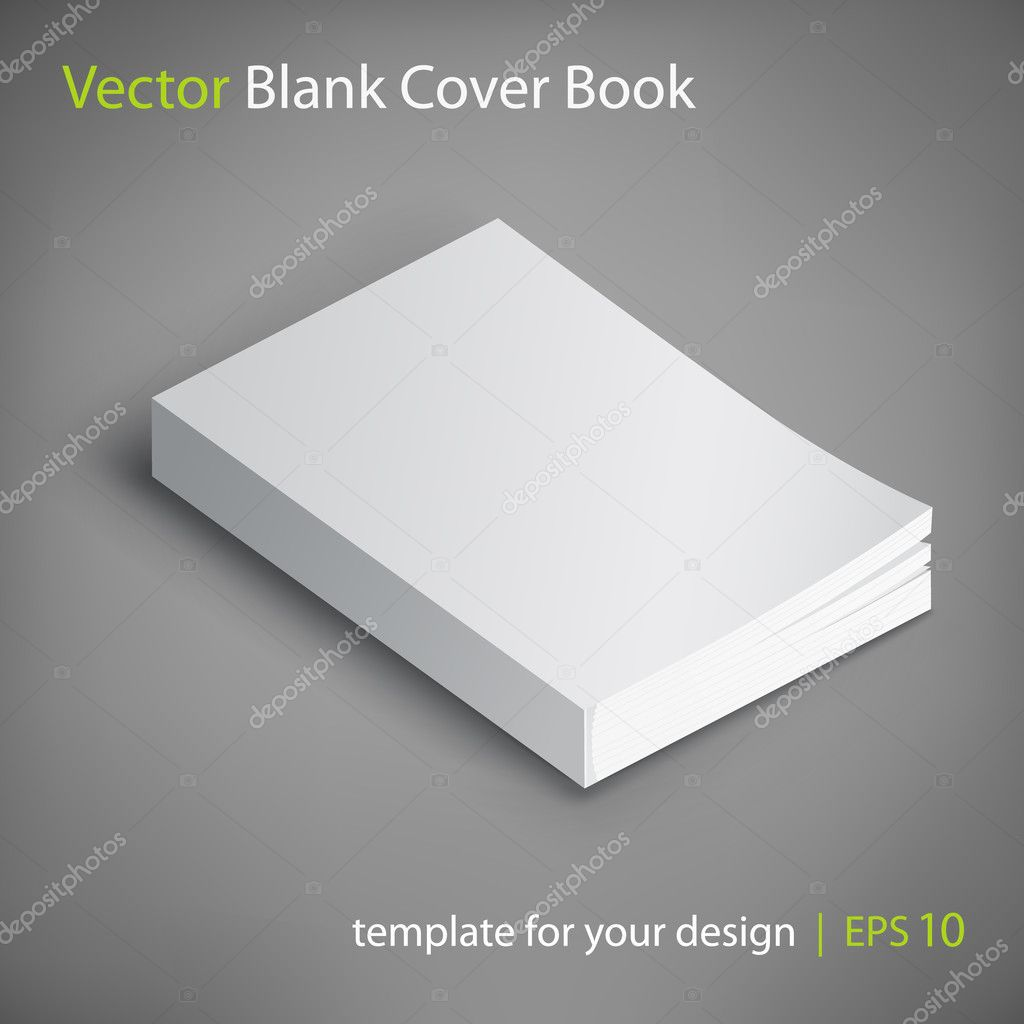Blank Book Cover Vector Illustration Free : Vector blank book cover — stock kazyavka