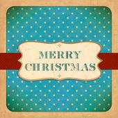 オールド クリスマス カード.ビンテージ フォント — ストックベクタ
