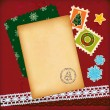 Christmas vintage scrapbook elements. — Stock vektor