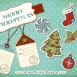 Christmas scrapbook elements. — Stock vektor
