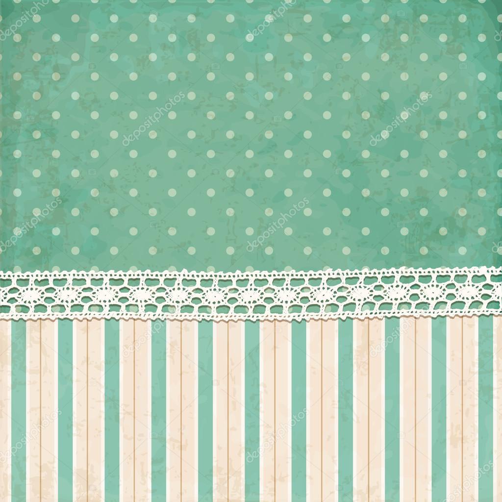vintage background polka dot and strips wallpaper � stock