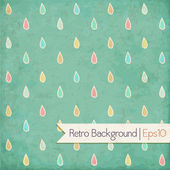 Vintage background. Polka dot, raindrops — Stock Vector