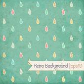 Vintage background. Polka dot, raindrops — Stock Vector