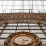 Large ornate railway clock in Paris — Stock Photo #27470949
