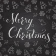 Christmas Chalkboard with lettering. — Stock Vector #35027771