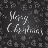 Christmas Chalkboard with lettering. — Stock Vector