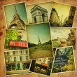 Vintage collage. Paris travel. — Stock Photo