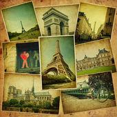 Vintage Collage. Paris Reisen. — Stockfoto