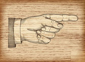 Hand with pointing finger. Vector EPS 10 — Stockvektor