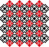 Crossstich-vitryska-slaviska-mönster — Stockvektor