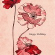 Drawing-birthday-poppy-flowers_contrast — Stock Photo #18728061