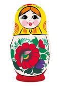 Matryoshka-smiling — Stock Vector