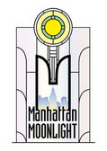 Manhattan-Moonlight — Stock Vector