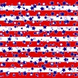 Stock Vector: Americstars and stripes background