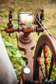 Traditional spinning wheel — Stock Photo