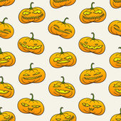 Halloween pumpkins pattern — Stock Vector
