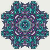 Floral doodle rosette — Stock Vector