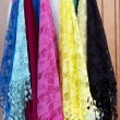 Burano lace scarf - Stock Photo