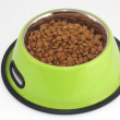 Pet food in a bowl — Stock Photo