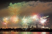 Firework celebration Redentore (Venice, Italy) — Stock Photo