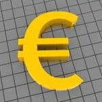 Euro. 3d — Stock Photo