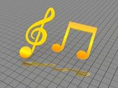 Musical notes — Stockfoto