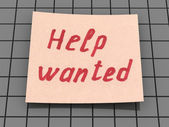 Help wanted — Foto Stock
