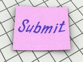 Submit — Stock Photo