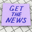 Stock Photo: Get news