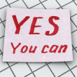 yes you can — Stock Photo