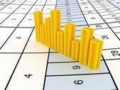 Business statistics — Stock Photo