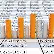 Stock Photo: Business statistics