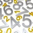 Background of numbers - Stock Photo