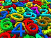 Fundo de números — Foto Stock