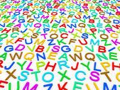 Bokstäver i alfabetet. — Stockfoto