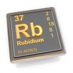 Rubidium. Chemical element. — Stock Photo