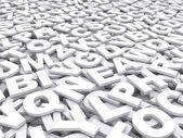 Letters van het Engels alfabet. — Stockfoto