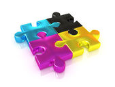 Cmyk. puzzle. — Foto de Stock